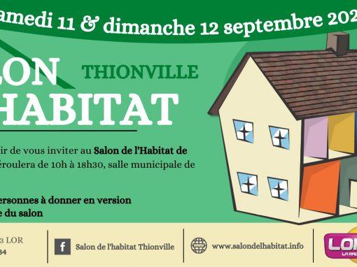 Salon de l'Habitat de Thionville – Le 11 et 12 septembre 2021